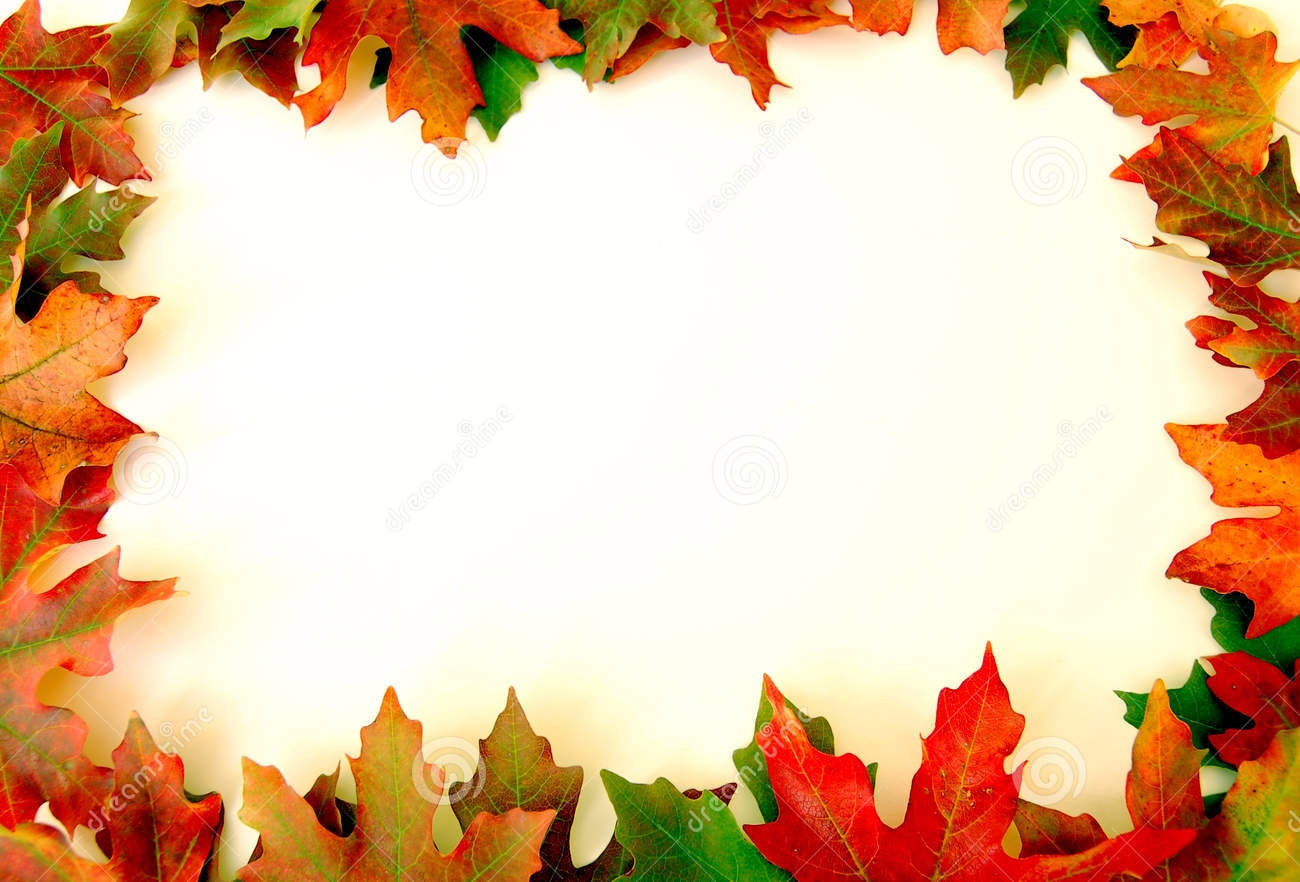 Autumn leaves clip art border
