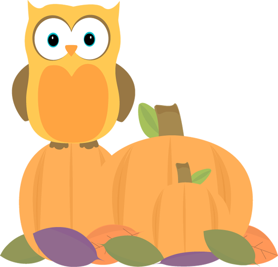 Autumn Owl - Fall Clip Art