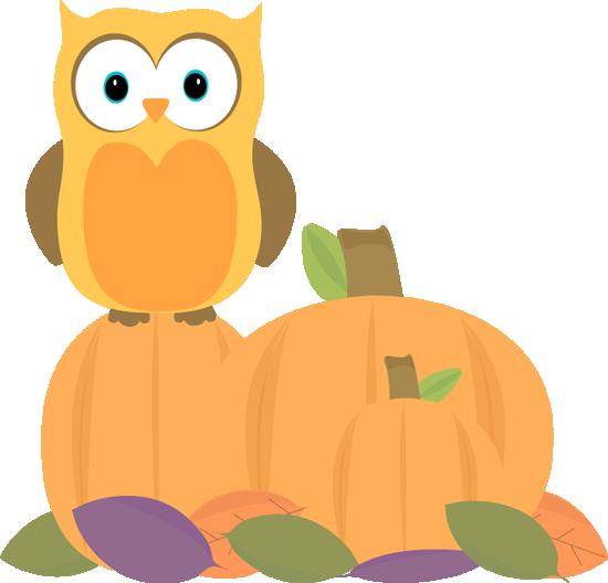 Autumn Owl - Fall Images Clip Art