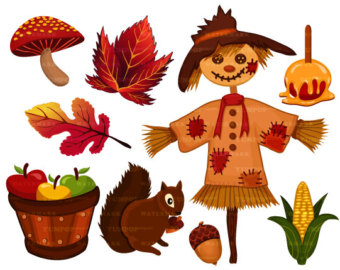 Autumn Season clipart, Fall .