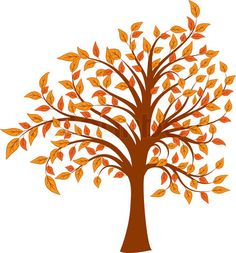 Trees colorful. Fall clip art