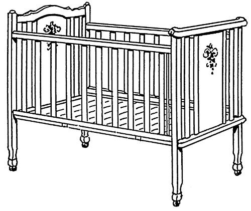 Available Formats To Download - Baby Crib Clipart