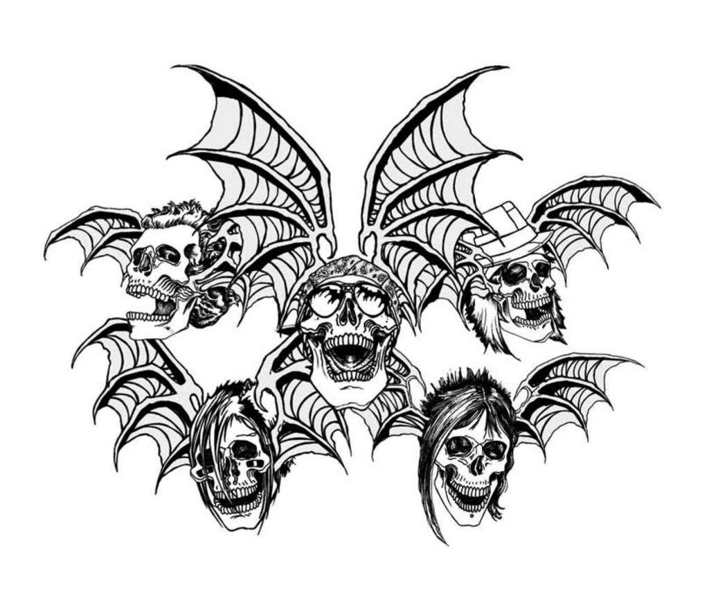 Avenged Sevenfold Death Bats-Avenged Sevenfold death bats-2