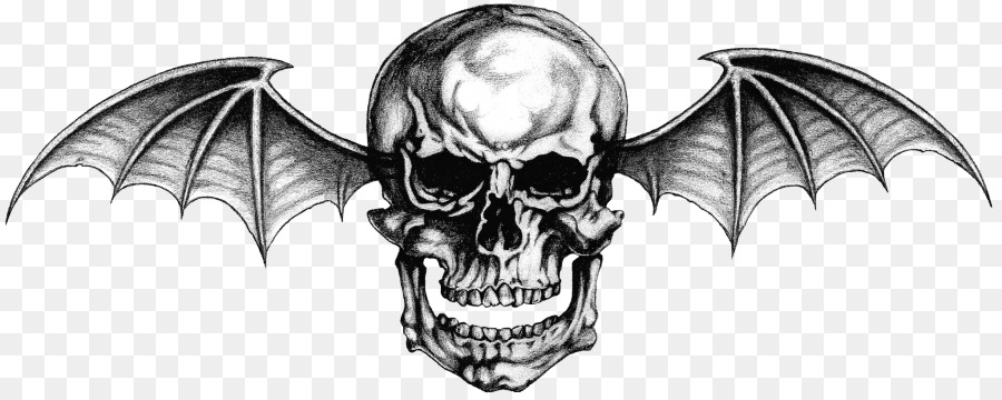 Hail To The King: Deathbat Avenged Seven-Hail to the King: Deathbat Avenged Sevenfold Tattoo Logo Wallpaper - Skull  Wings-15