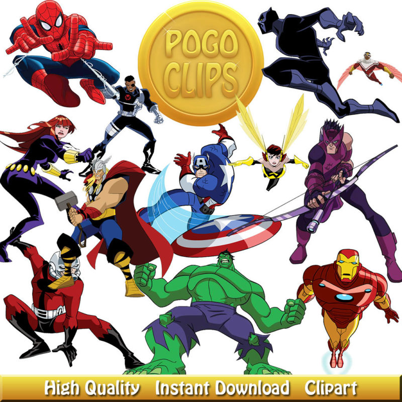 48 Avengers Clipart Character - Avengers Clipart
