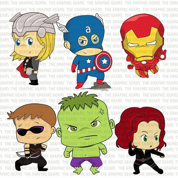 Baby Avengers Clip Art Set Av - Avengers Clipart