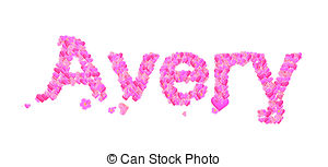 ... Avery female name with hearts - Name-... Avery female name with hearts - Name set with hearts.-1