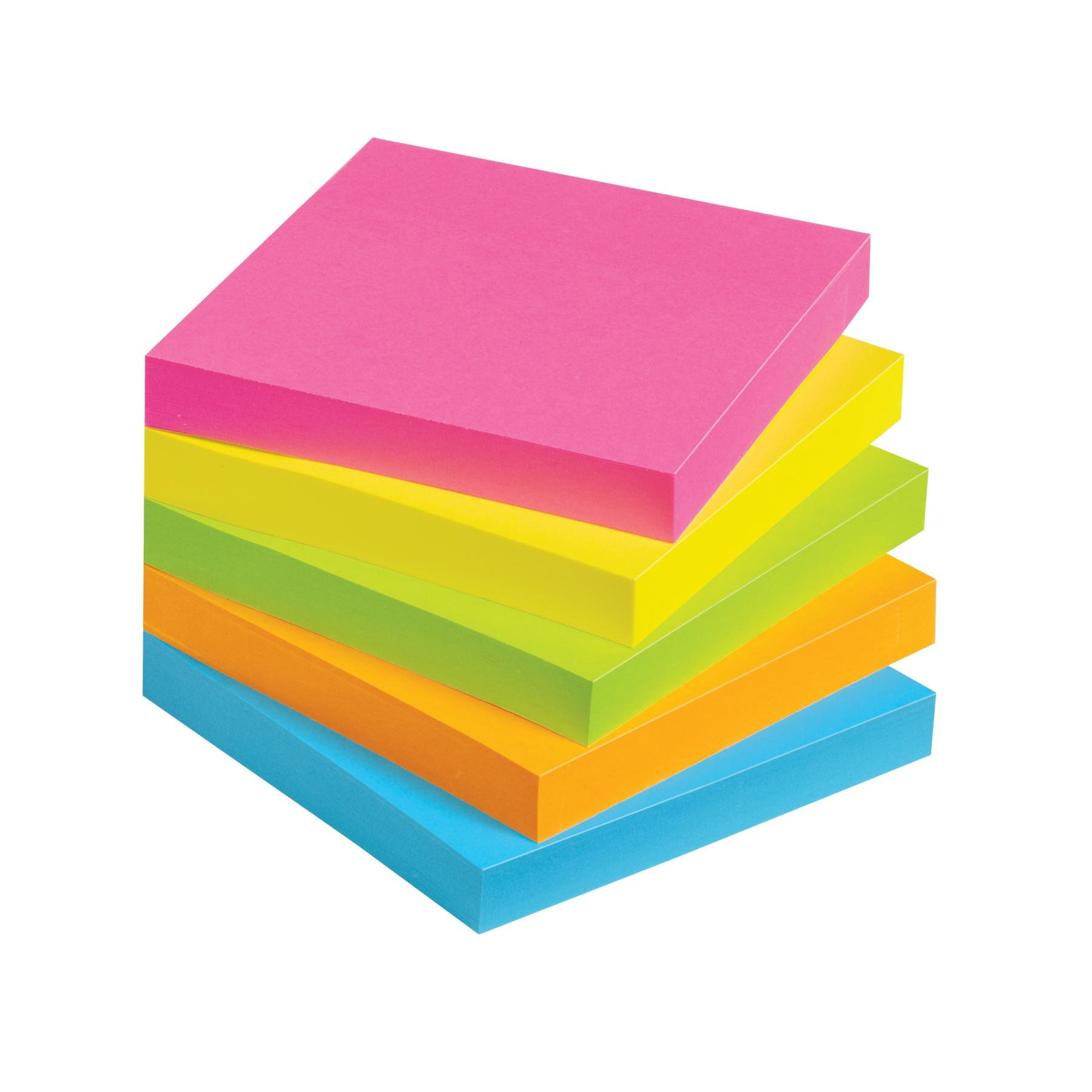 Avery lay flat sticky notes inches brigh-Avery lay flat sticky notes inches bright colors clip art image-11