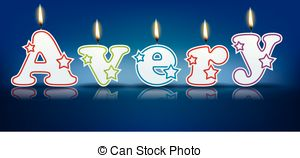 ... AVERY written with burning candles --... AVERY written with burning candles - vector illustration-7