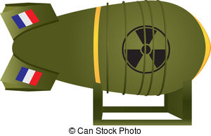 ... Aviation Atomic Bomb France For Nucl-... Aviation atomic bomb France for nuclear war. Vector.-11