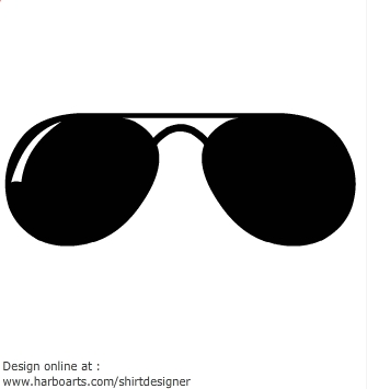 Aviator Sunglasses Clipart .-aviator sunglasses clipart .-1