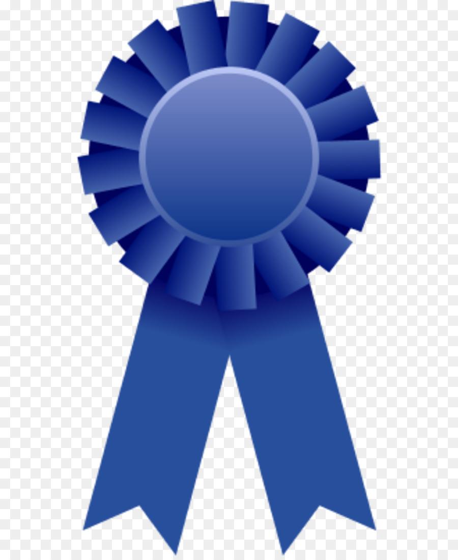 Ribbon Award Prize Clip art - Blue Ribbon Clipart