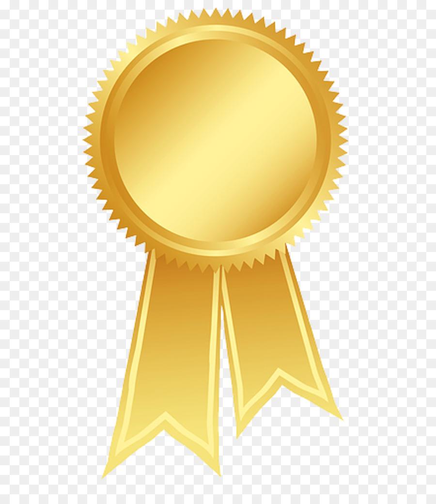 Ribbon Gold Rosette Award Clip art - Gold Ribbon Cliparts