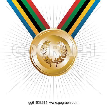 Award Medals U0026middot; Olympics Games-Award Medals u0026middot; Olympics games gold medal with laurel wreath-3