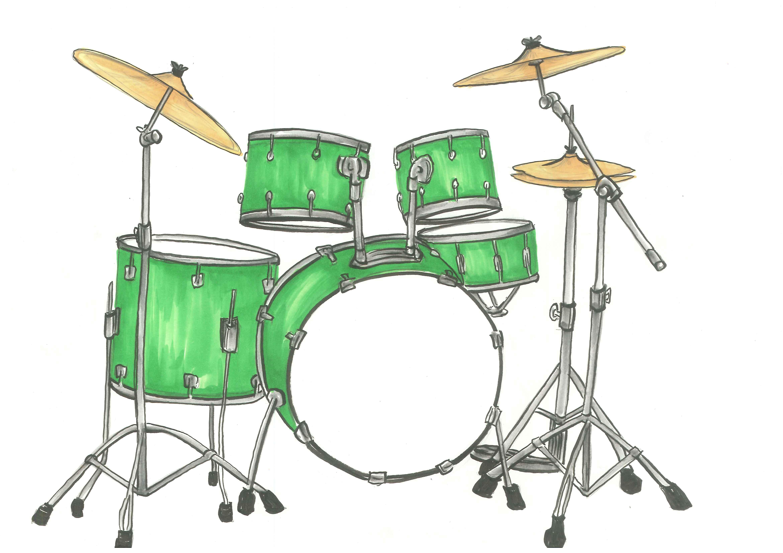 Awesome Drum Set Clipart .-Awesome Drum Set Clipart .-1