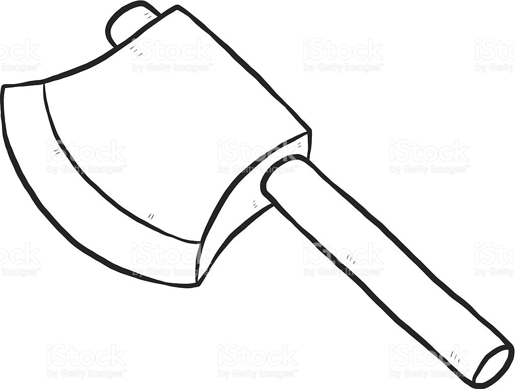 axe clipart black and white