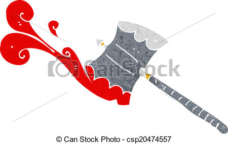 cartoon double sided axe - csp20474557