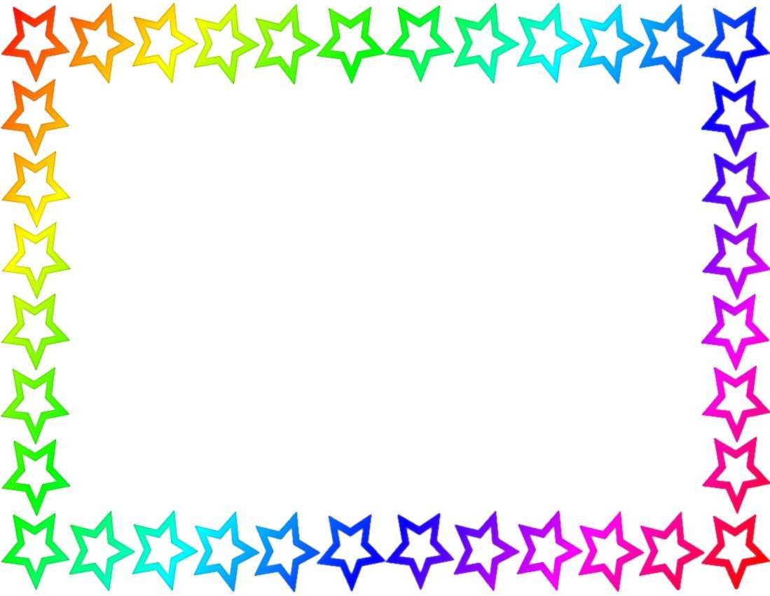 u003cbu003eBorderu003c/bu003e Page Rainbow Http Www Wpclipart Com Page Frames u003cbu003eStar Borderu003c/bu003e