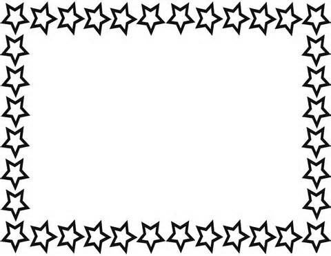 u003cbu003estaru003c/bu003e b - Star Border Clipart