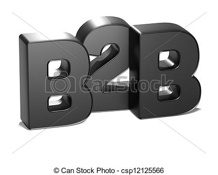 3D B2B on white background - csp12125566