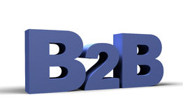 B2B 3d render. Business 2 business sign Royalty Free Stock Photo