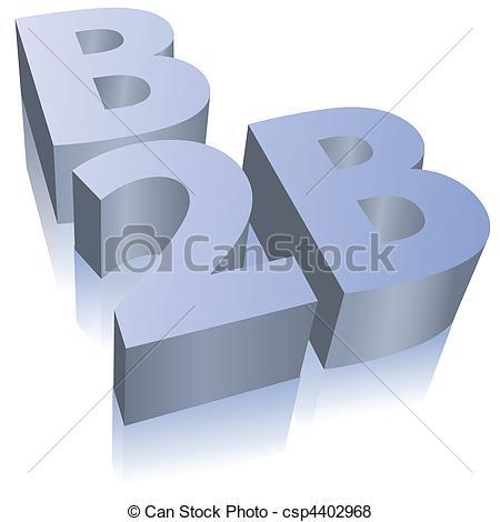 B2B e-commerce business symbol - csp4402968