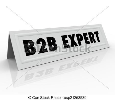 B2B Expert Speaker Presenter Name Tag Panelist Sharing Informati -  csp21253839