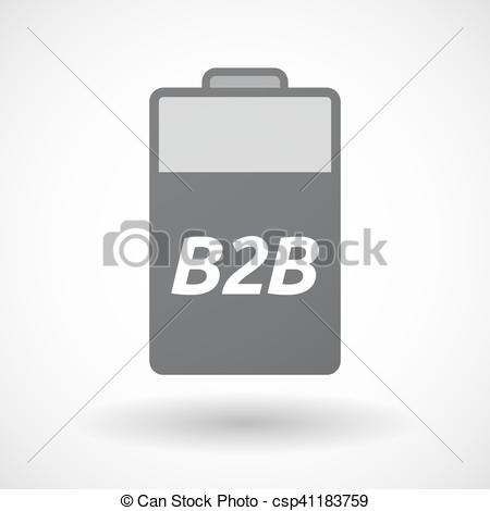 Isolated battery icon with the text B2B - csp41183759