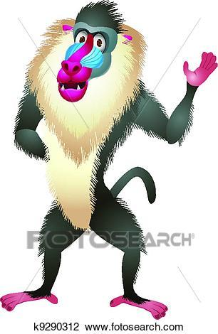 Baboon cartoon-Baboon cartoon-18