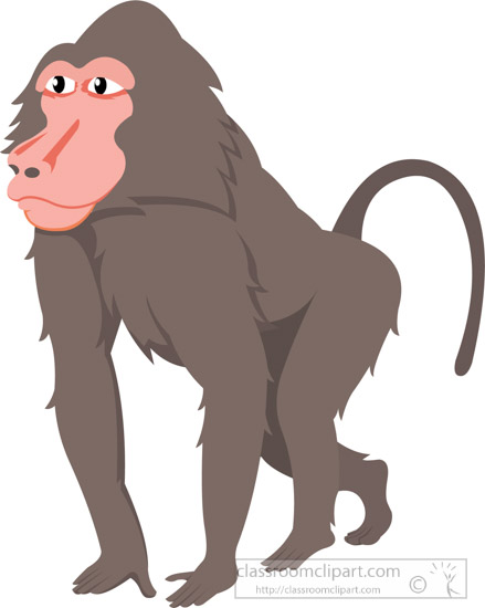 baboon sideview walking clipa - Baboon Clipart