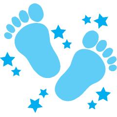 baby blue border clipart