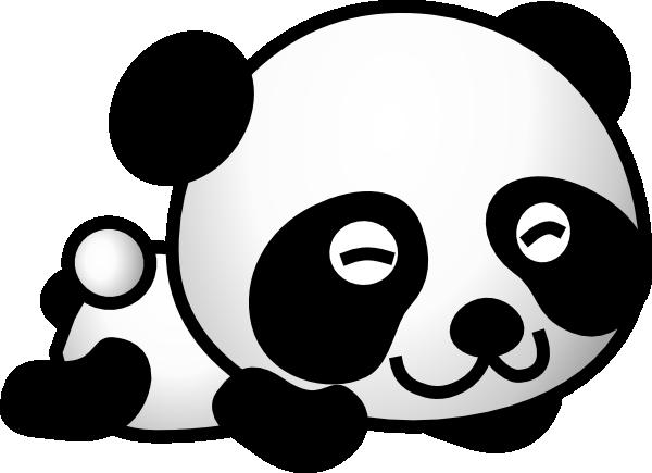 baby boy panda clipart