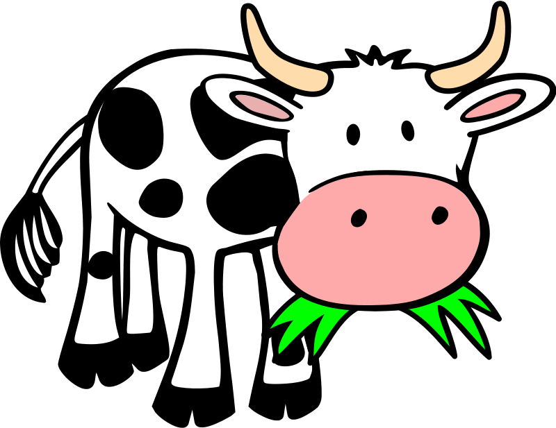 baby cow clipart