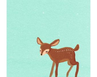 baby deer clipart