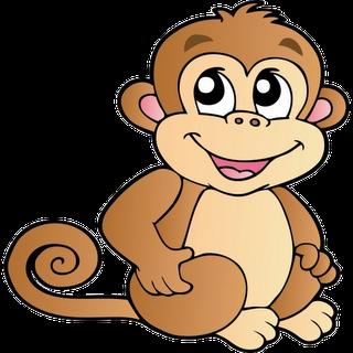 Baby Monkey Clip Art-baby monkey clip art-2