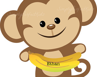 baby monkey clip art - Cute Monkey Clip Art