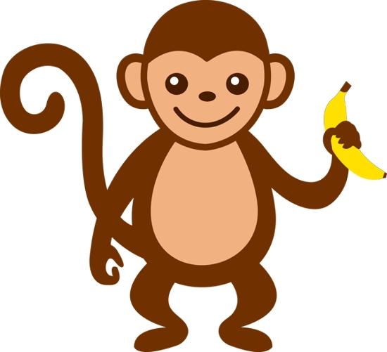 Baby Monkey Clip Art-baby monkey clip art-0