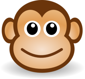 baby monkey clipart black and white-baby monkey clipart black and white-0