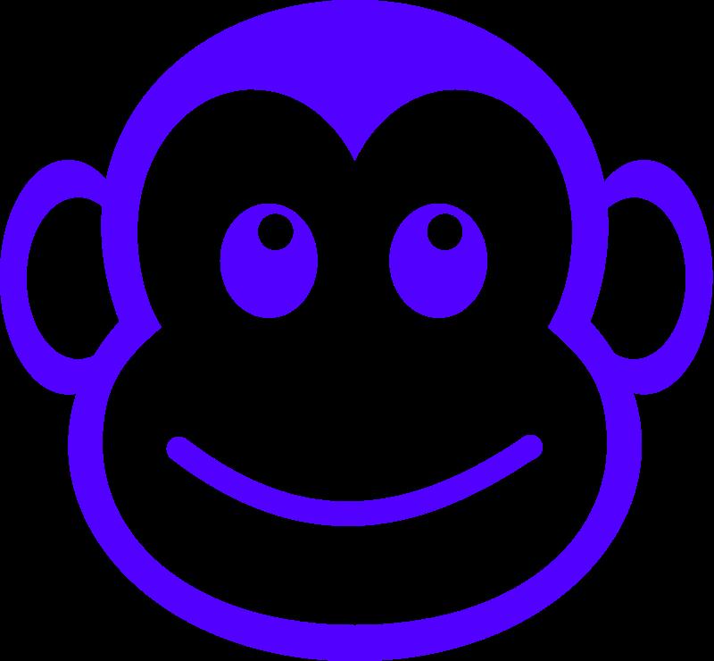 baby monkey face clip art
