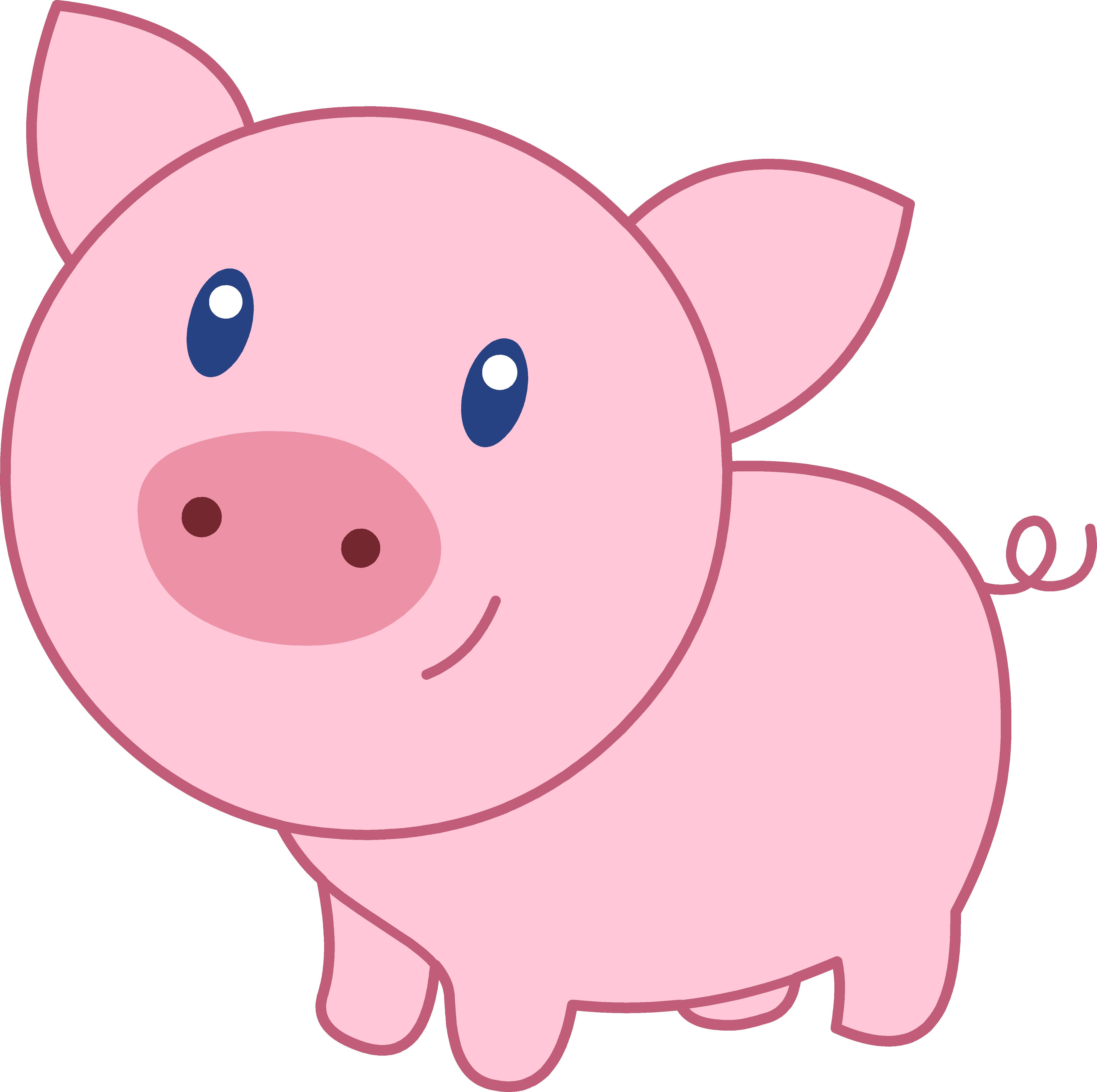 Baby Pig Clipart-baby pig clipart-0