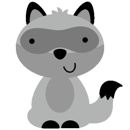 baby raccoon clipart