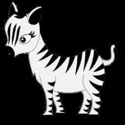 Cute Baby Zebra - Zebra .