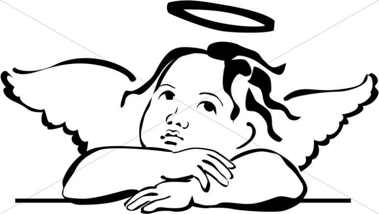Baby Angel Clipart u0026middot; Cherubim-Baby Angel Clipart u0026middot; Cherubim Clipart-11