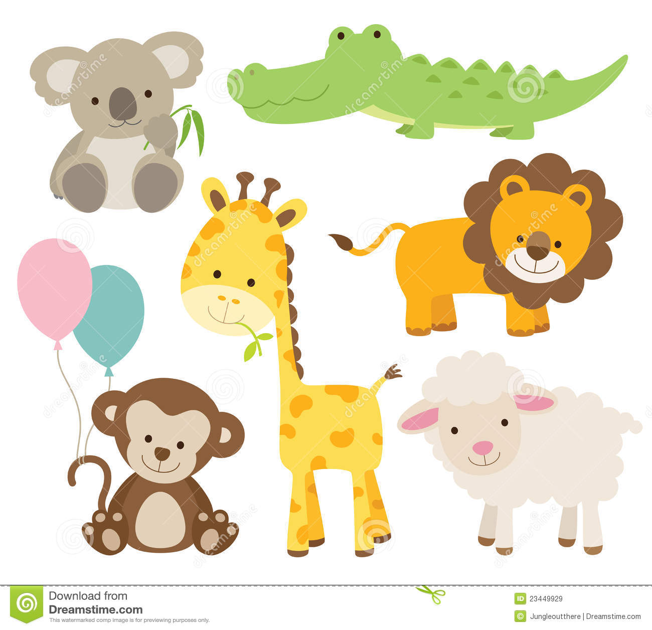 Baby Animal Clipart Baby Shower