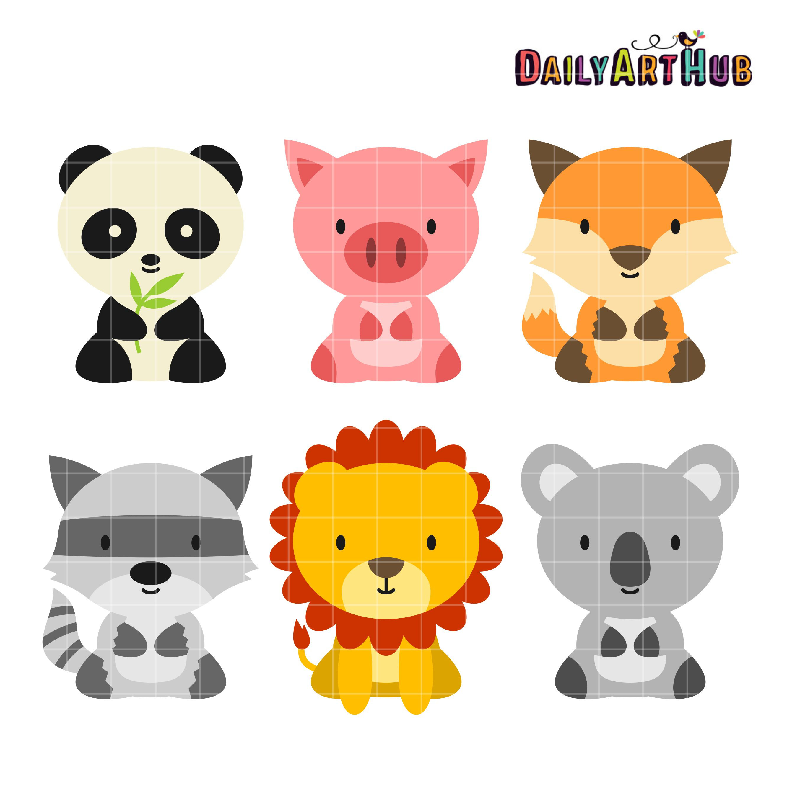 Baby Animals Clip Art Set