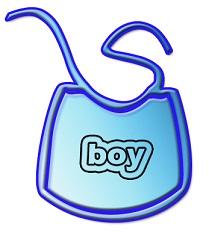 Baby bib for boy
