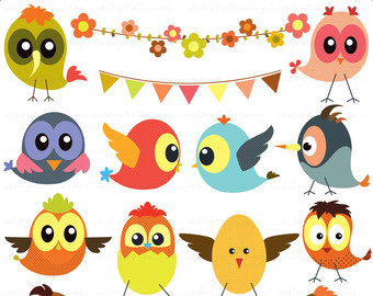 Baby Birds Clip Art - high resolution - Personal and Commercial Use