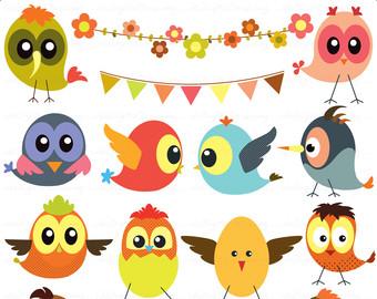 Baby Birds Clip Art - High Resolution - -Baby Birds Clip Art - high resolution - Personal and Commercial Use-6