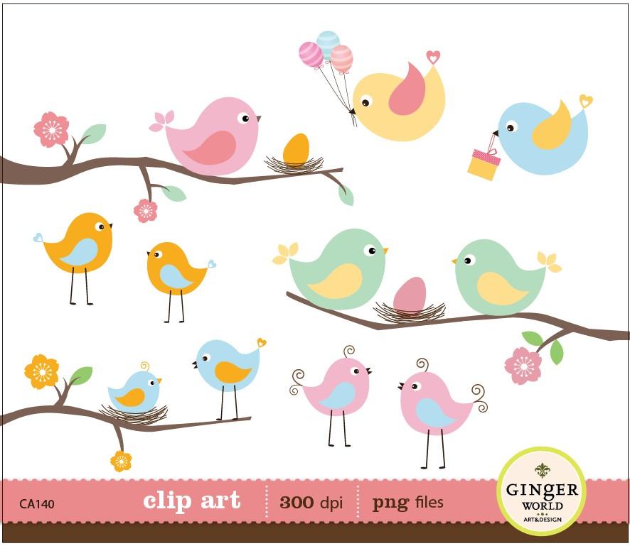 Baby Birds In Nest Clip Art