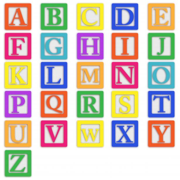 Baby Block Letters Clipart #1